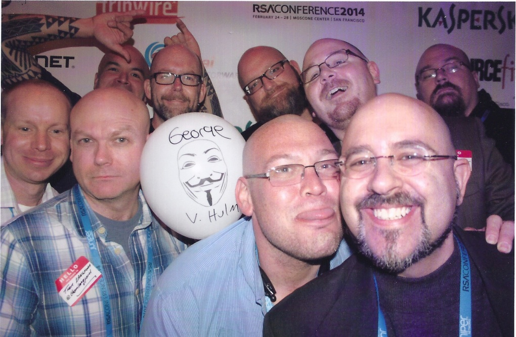 "The ""infamous"" bald men of security."