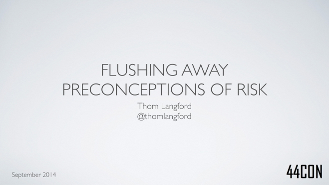 Flushing Away Preconceptions of Risk.001